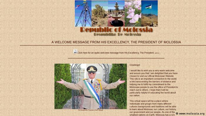 Screenshot Republik of Molossia (www.molossia.org)