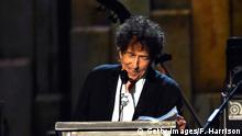 LOS ANGELES, CA - FEBRUARY 06: Honoree Bob Dylan speaks onstage at the 25th anniversary MusiCares 2015 Person Of The Year Gala honoring Bob Dylan at the Los Angeles Convention Center on February 6, 2015 in Los Angeles, California. The annual benefit raises critical funds for MusiCares' Emergency Financial Assistance and Addiction Recovery programs. (Photo by Frazer Harrison/Getty Images)