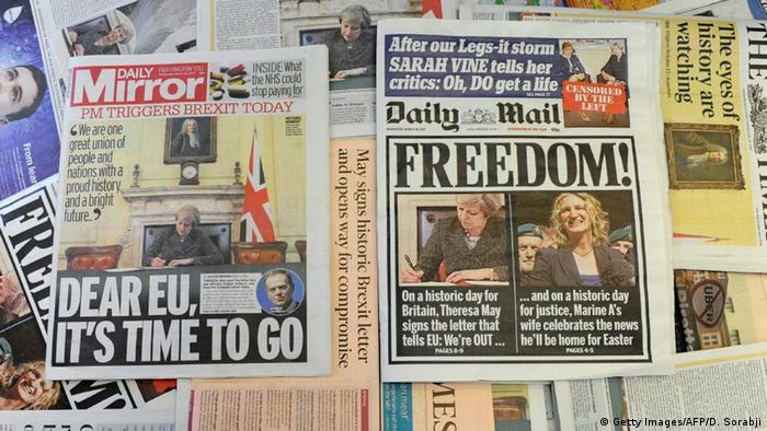 Naslovnice nakon referenduma o Brexitu