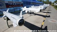 1118029 Russia, Dubna. 05/11/2012 The 3M-80E Moskit hypersonic anti-ship missile displayed at an exhibition at the Alexander Bereznyako Raduga Design Bureau. Sergey Mamontov/RIA Novosti  