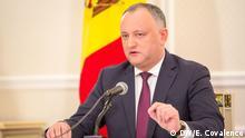 Republik Moldau - PK des moldauischen Staatspräsidenten Igor Dodon