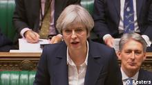 Großbritannien Theresa May Brexit Rede im Parlament (Reuters)