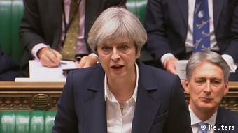Großbritannien Theresa May Brexit Rede im Parlament