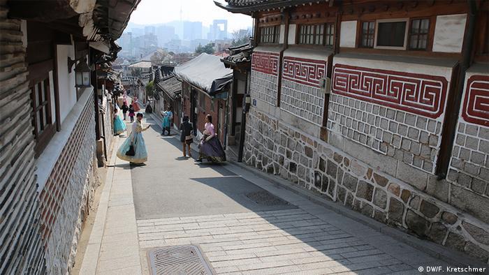 Südkorea chinesischer Boykott | leere Touristen- und Einkaufszentren in Seoul (DW/F. Kretschmer)