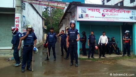 Bangladesch Polizei gerät unter Beschuss (bdnews24.com)