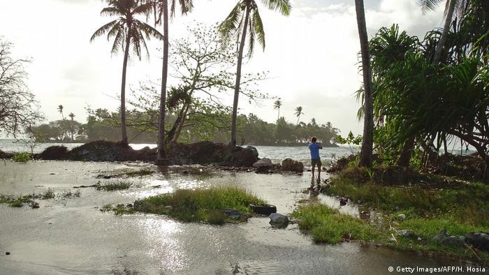 A flooded neighborhood on the Marshall Islands