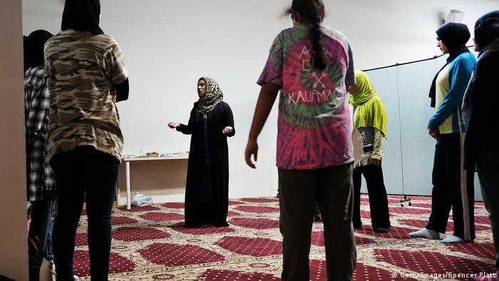 USA Selbstverteidigungskurs für muslimische Frauen in New York (Getty Images/Spencer Platt)