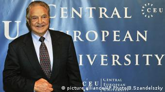 George Soros pictured ahead of the start of his five-day-long lecture at the Central European University, CEU, in Budapest.
