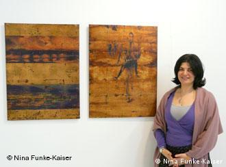Findet ihre Kunst nicht ausgesprochen weiblich: Malerin Maria Rigoutsou Foto: Nina Funke-Kaiser