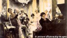 Deutschland Komponist Ludwig van Beethoven spielt bei Lichnowsky