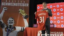 29.03.2017CHICAGO, IL - MARCH 29: The Chicago Fire Introduce Basitan Schweinsteiger during a press conference on March 29, 2017 at the The PrivateBank Fire Pitch in Chicago, Illinois. (Photo by David Banks/Getty Images)