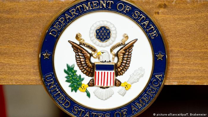 USA US-Außenministerium in Washington - Siegel (picture-alliance/dpa/T. Brakemeier)