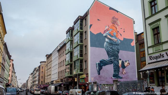 Street art by Telmo Miel in Berlin-Kreuzberg (Eugen/millionmotions.com)