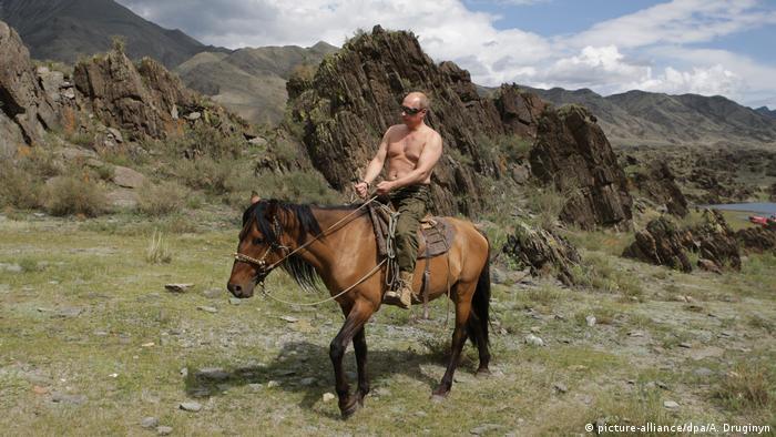 Wladimir Putin auf dem Pferd (picture-alliance/dpa/A. Druginyn)