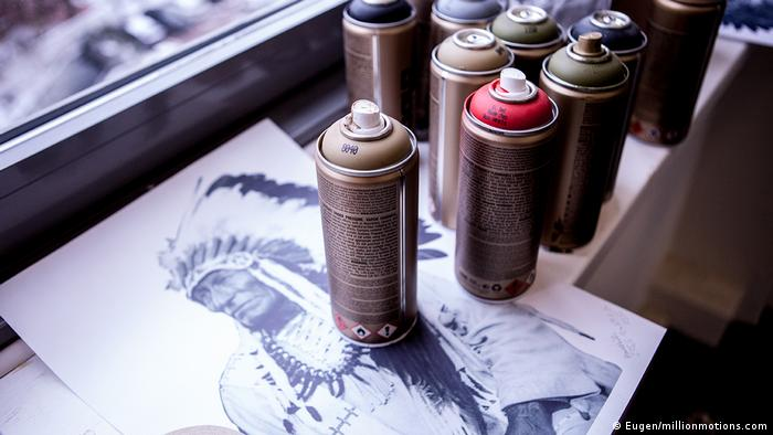 Sketch and spray paint at The Haus in Berlin