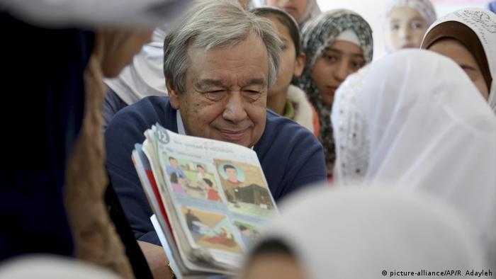 Jordanien - Besuch von UNO-Generalsekretär Guterres im Flüchtlingscamp