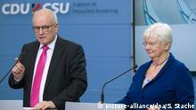 Volker Kauder (CDU) und Gerda Hasselfeldt (CSU) lobten die Vorstöße der Union beim Koalitionsausschuss