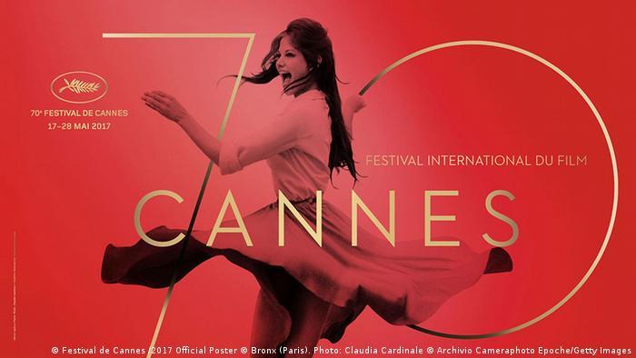 Filmfestival Cannes - Plakat 2017 (Festival de Cannes /2017 Official Poster © Bronx (Paris). Photo: Claudia Cardinale © Archivio Cameraphoto Epoche/Getty Images)