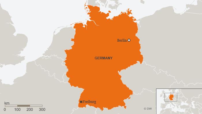 Karte Deutschland Freiburg ENG