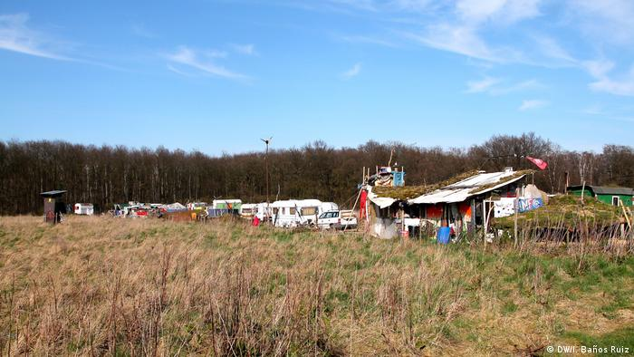 Klimacamp - Hambacher Forst (DW/I. Baños Ruiz)