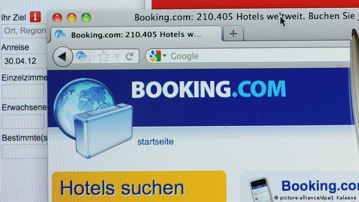 Online-Buchungsportal Booking.com (picture-alliance/dpa/J. Kalaene)