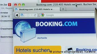 Поиск отеля на сайте booking.com