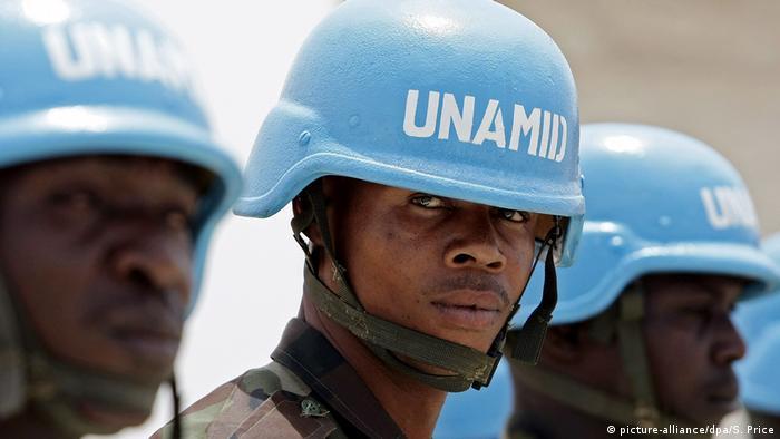 Участники миссии ООН в Судане
