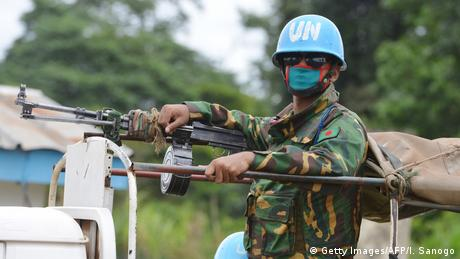 UN peacekeeper in Ivory Coast. (Getty Images/AFP/I. Sanogo)
