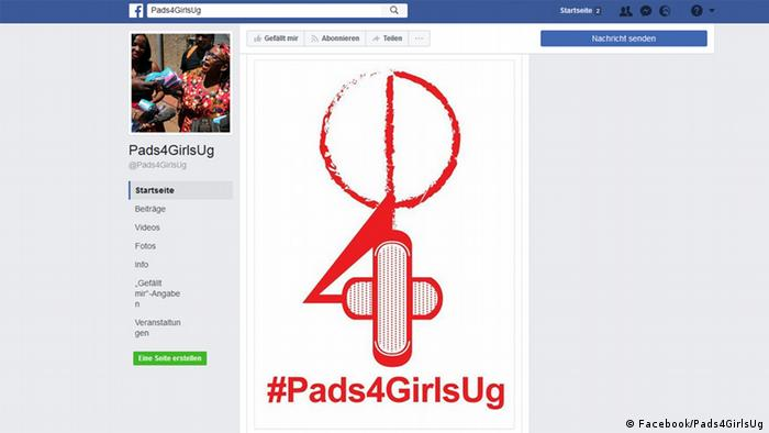 Screenshot Facebook Pads4GirlsUg (Facebook/Pads4GirlsUg)