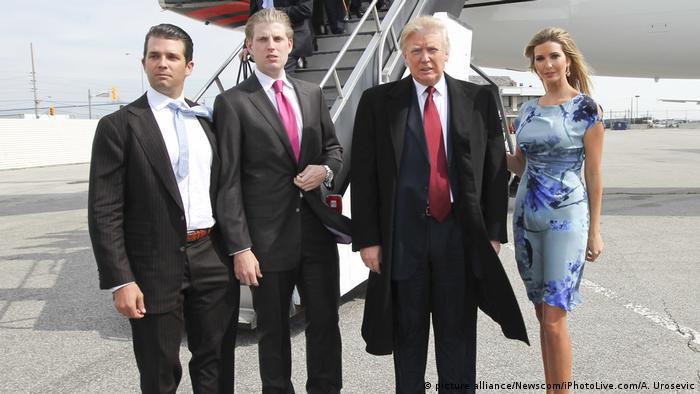 Сини Дональд Трампа (на фото) керують його бізнес-імперією, а Іванка працює в Білому домі разом зі своїм чоловіком