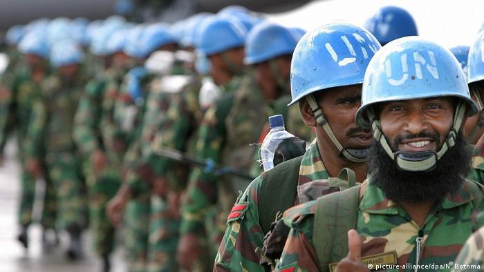 UN peacekeepers (picture-alliance/dpa/N. Bothma)