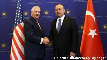 Mevlut Cavusoglu Rex Tillerson Treffen in Ankara