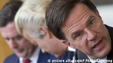 Niederlande Parteiführer Roemer Wilders Rutte