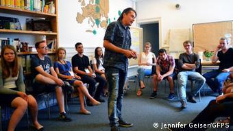 Студенты из Беларуси, Польши и Чехии на одной из встреч GFPS. Архивное фото