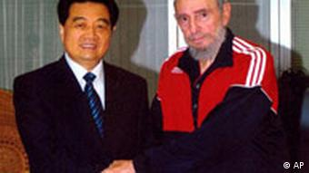 Hu Jintao und Fidel Castro (Quelle: AP)
