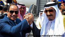Ägypten Treffen König Salman Abdel al-Sisi
