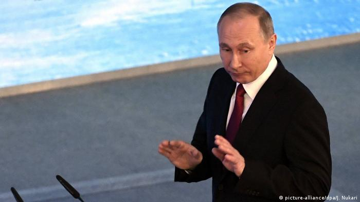 Putin beim International Arctic Forum in Arkhangelsk (picture-alliance/dpa/J. Nukari)