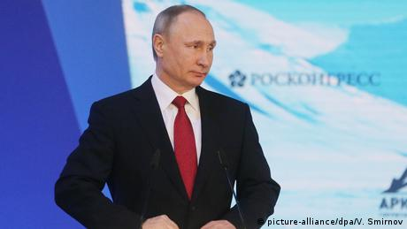 Putin beim International Arctic Forum in Arkhangelsk (picture-alliance/dpa/V. Smirnov)