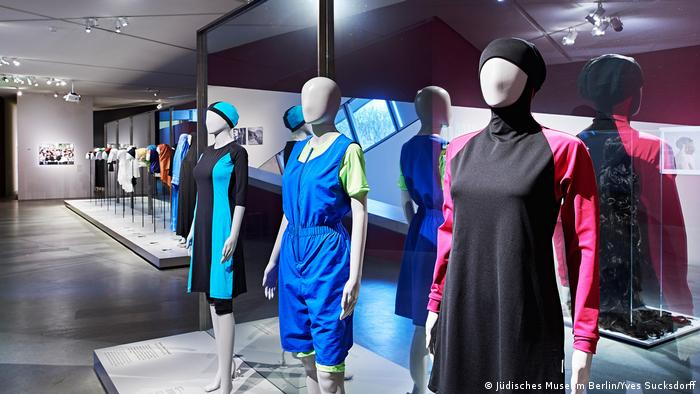 Mannequins adorned in burkini swimwear (Jüdisches Museum Berlin/Yves Sucksdorff)