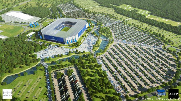 Hertha BSC geplantes neues Stadion