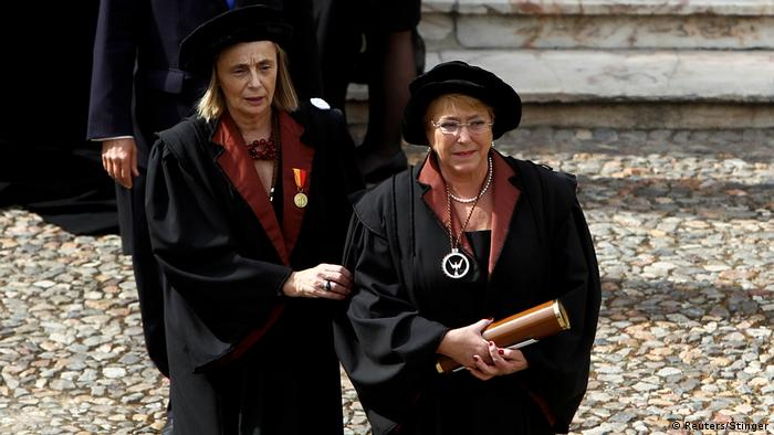 Portugal | Honoris Causa Zeremonie mit Präsidenten Michelle Bachelet und Marcelo Rebelo (Reuters/Stinger)