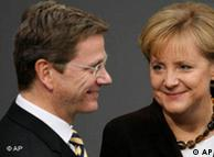 Merkel (right) with her favorite coalition partner, FDP leader Guido Westerwelle