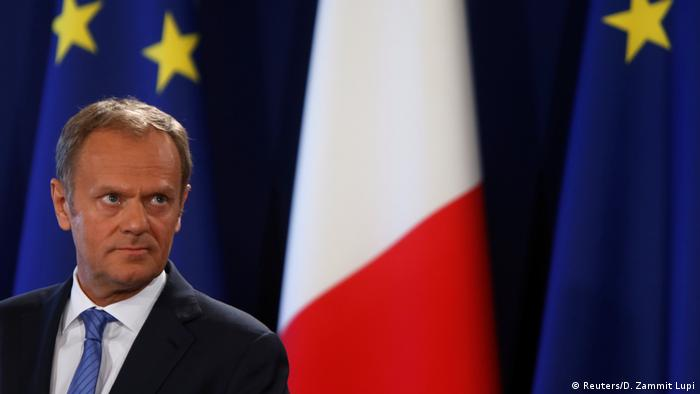 EU Brexit Strategie Tusk PK in Valletta (Reuters/D. Zammit Lupi)