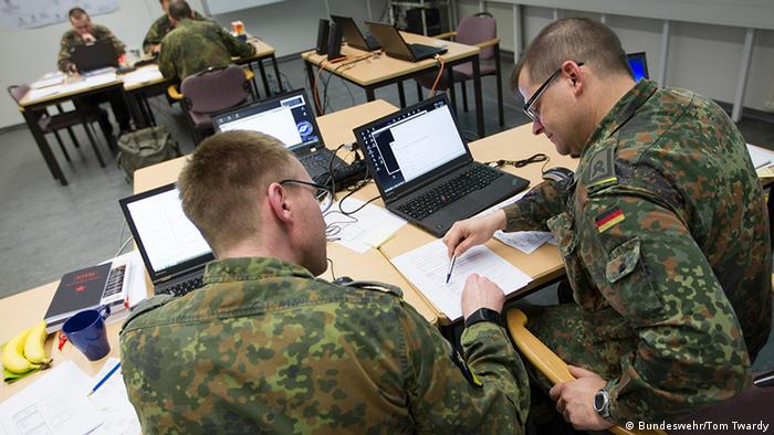 Cyber command soldiers
