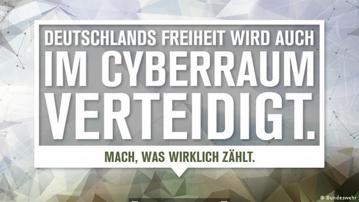 Ein Cyberabwehr-Plakat der Bundeswehr