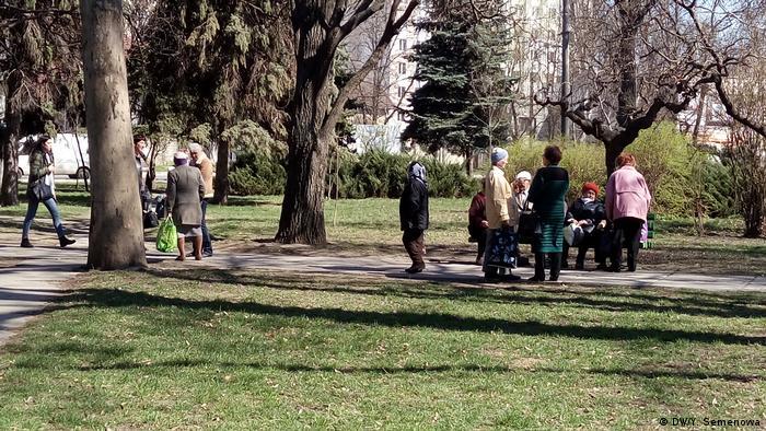 Moldau Rentner in einem Park in Chisinau