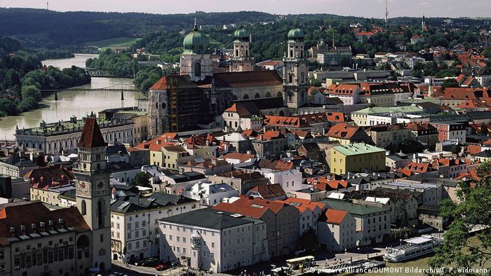 Vista geral da cidade de Passau