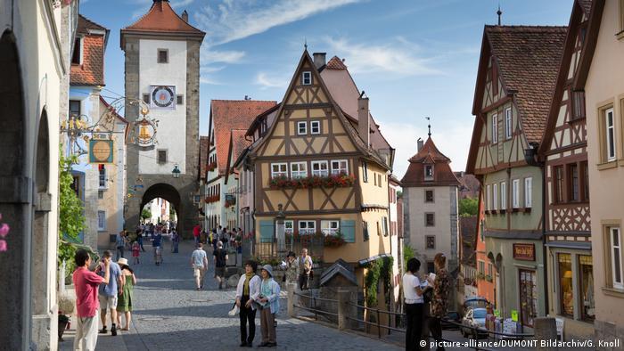 Detalhe da cidade de Rothenburg ob der Tauber