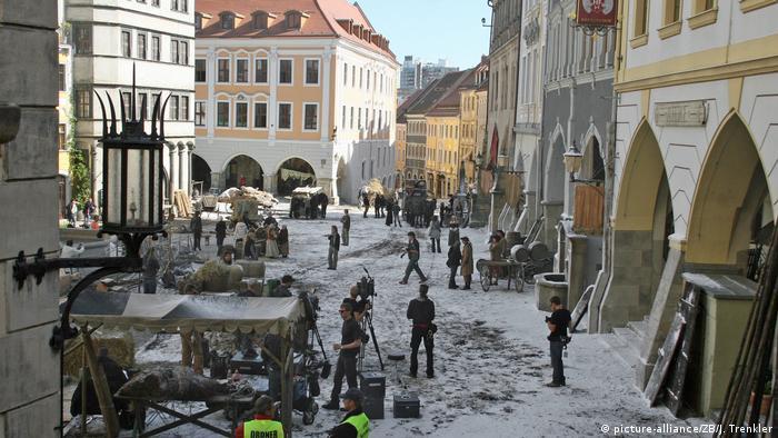 Deutschland Stadt Görlitz - Dreharbeiten Film Goethe (picture-alliance/ZB/J. Trenkler)
