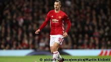 Manchester United v FC Rostov - UEFA Europa League - Round of Sixteen - Second Leg - Old Trafford. Manchester United's Zlatan Ibrahimovic during the UEFA Europa League Round of Sixteen, Second Leg match at Old Trafford, Manchester. Picture date: Thursday March 16, 2017. See PA story SOCCER Man Utd. Photo credit should read: Martin Rickett/PA Wire URN:30571972  